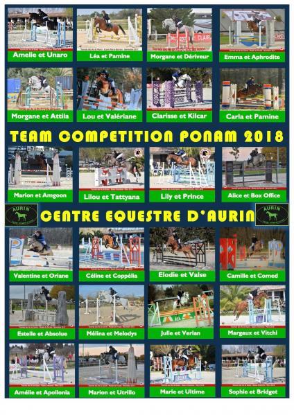 Team compétition Ponam Aurin
